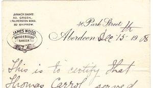 Aberdeen baker, Wood, 1908 reference