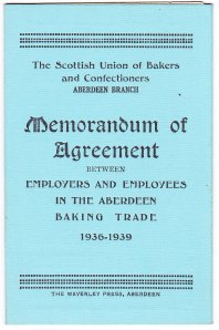 Aberdeen bakers agreement 1936-39
