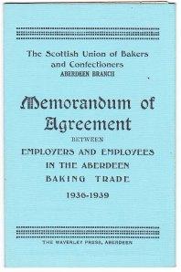 Aberdeen bakers agreement 1936-39