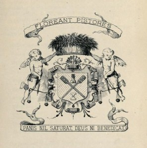 merchantcrAberdeen medieval coat of arms Floreant Pistores 1682