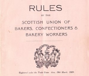 Rules of Scottish bakers with motto