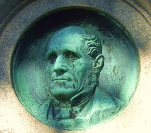 Bronze of Macdonald from his memorial stone at Nellfield