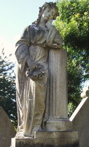 Granite sculpture on gravestone at Nellfield Cemetery 2
