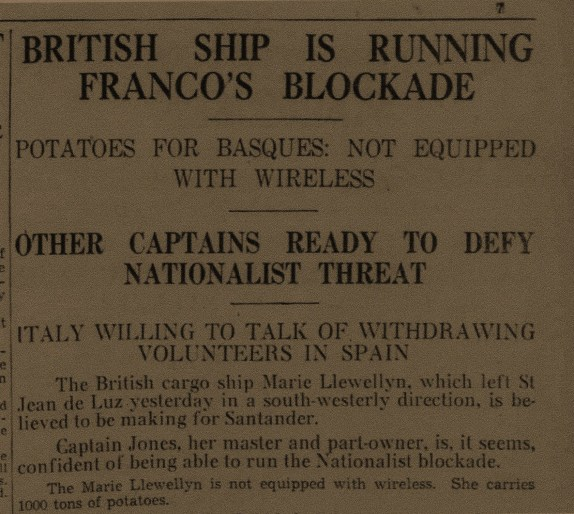 Aberdeen Press & Journal  16April 1937