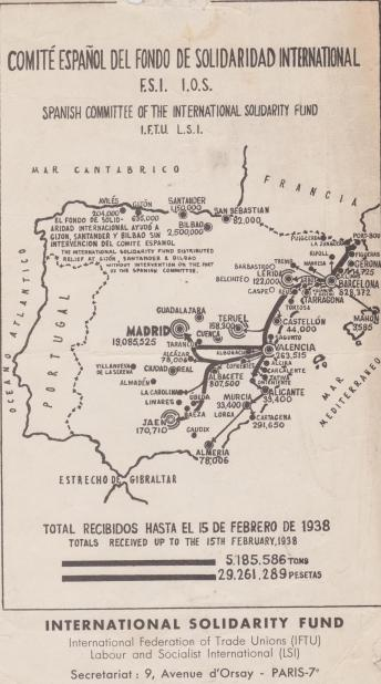 Aid for Spain Map