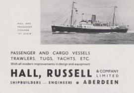 Hall, Russell & Company Shipbuilder, Aberdeen