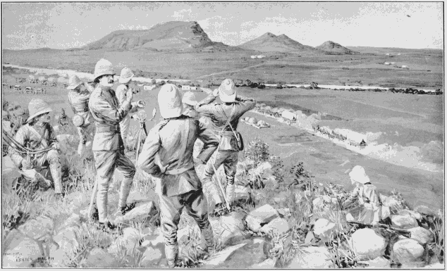 Fighting Mac and Highland Brigade in action at Koodosesberg in Boer War