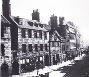 Broadgate, later Broad Street, where Lord Byron lived as a child