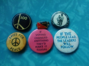 Badges from the 1960s