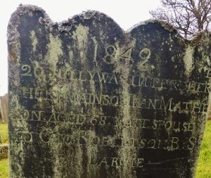 Slate tombstone