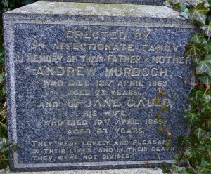 Andrew and Jane Murdoch die within days of each other
