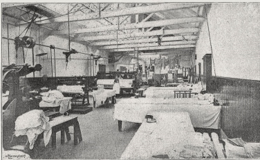 Aberdeen Steam Laundry  ironing hall