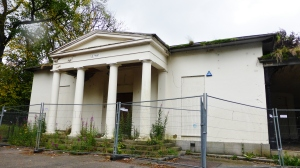 Westburn House  portico and Doric columns