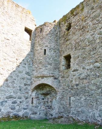 Corner Glenbuchat castle