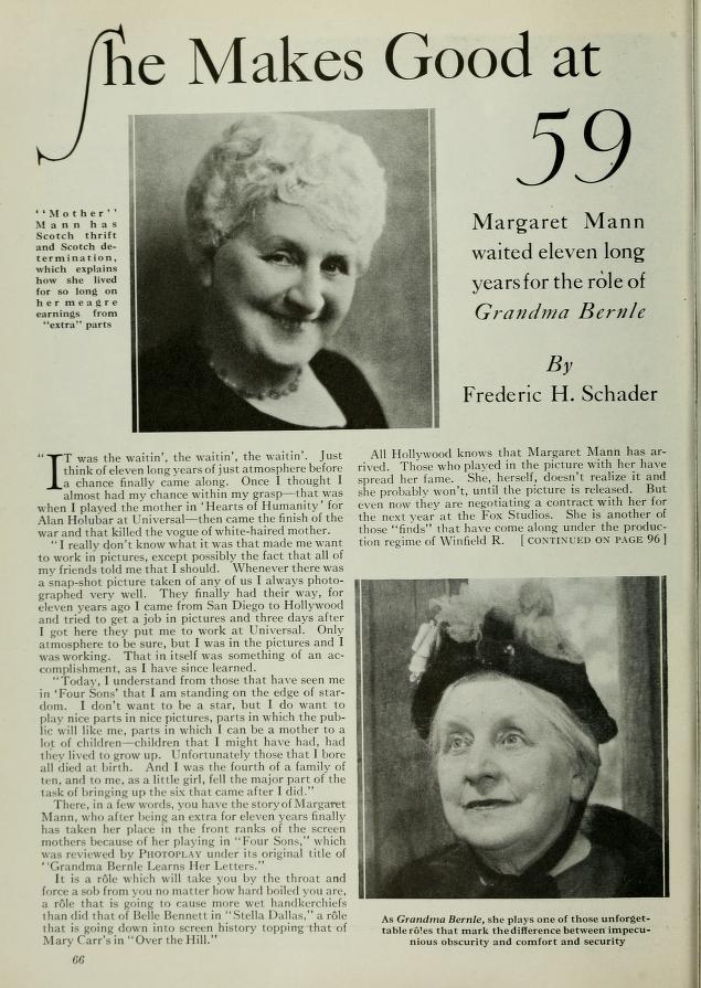 Margaret Mann 1