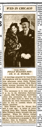 polly walker wedding christmas day 1935 chicago