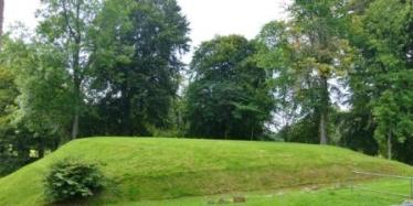 Motte where the first motte and bailey castle of Strathbogie was built in the late 1100s