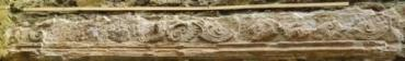 Remnant of ornate plaster work. The whole castle was packed with ornate work