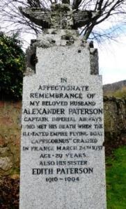 gravestone of paterson