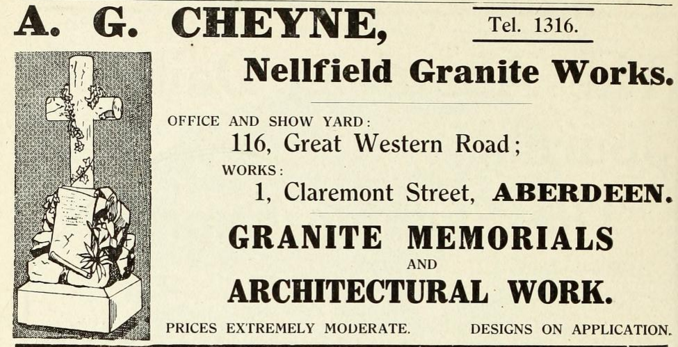 Cheyne Nellfield granite Works 1915 (2)