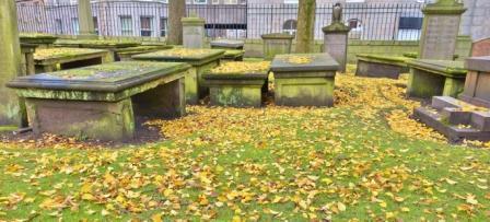 leaves in St Nicholas graveyard cropped