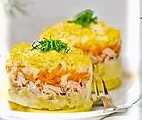 traditional-russian-salad-with-a-salmon-mimosa-traditional-russian-vegetable-salad-with-a-salmon-stock-photo_csp23450222